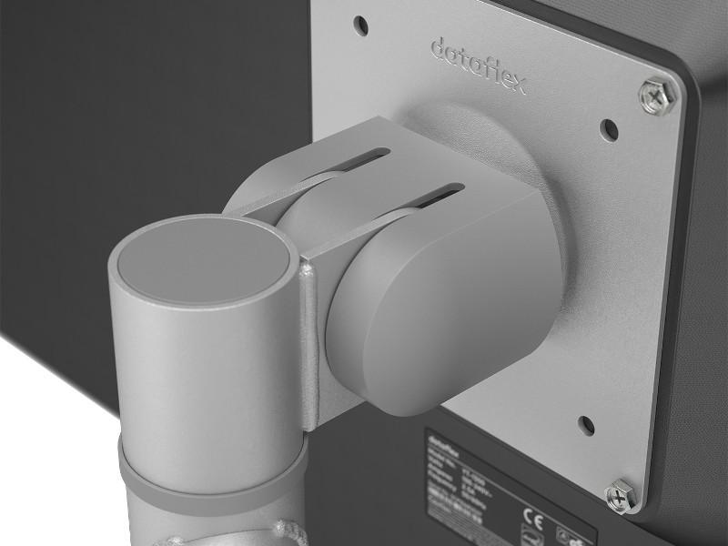 Dataflex Viewgo Monitor Tischhalterung mit Schwenkarm silber (48.122)